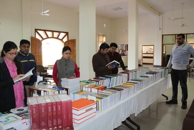 Central Library of Uttaranchal University organizes a 'Book Exhibition'