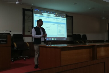 "A training session on ""Westlaw"" a legal database"