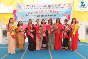 Law College Dehradun organizes 'Colors of Spring' Farewell – 2019
