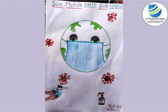 """'Guards of Green Club' of Uttaranchal Institute of Pharmaceutical Sciences organizes an 'Online Earth Day themed Poster Making and Drawing Event' to celebrate """"International Earth Day"""""""